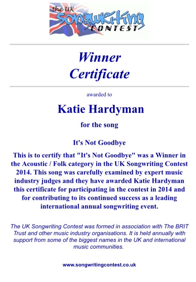 Uk songwriting contest 2018 prizes for teens