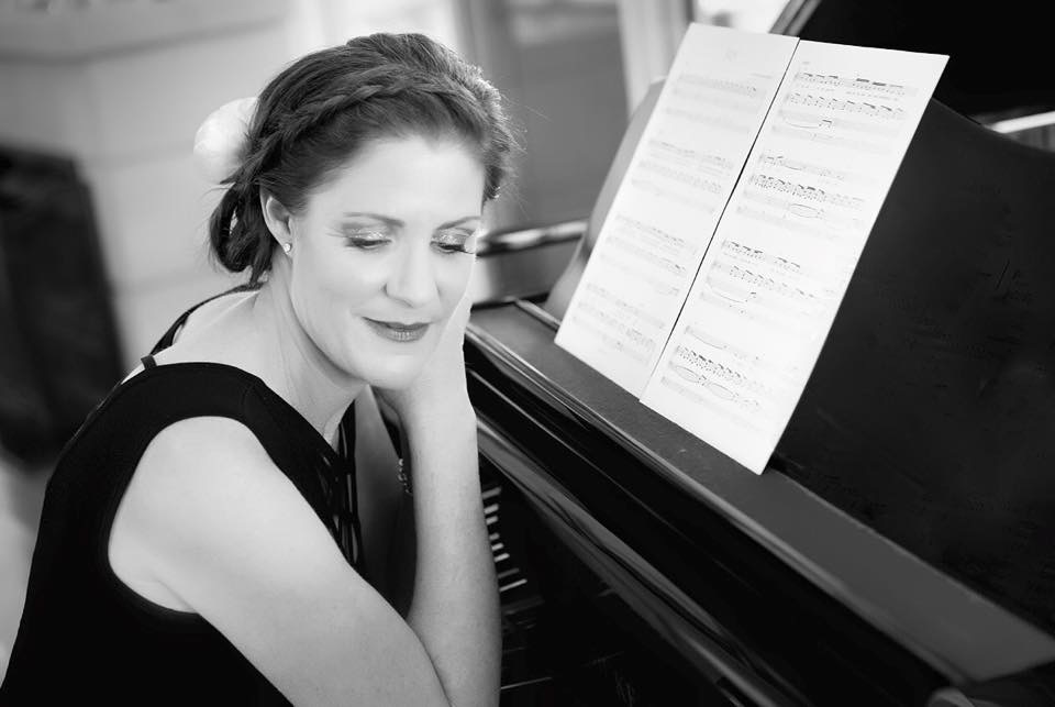 Katie Hardyman at piano